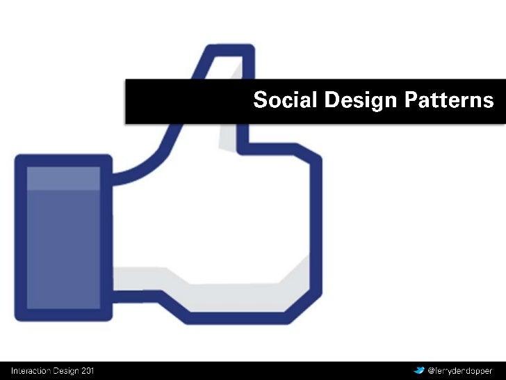 Social Design Patterns <br />