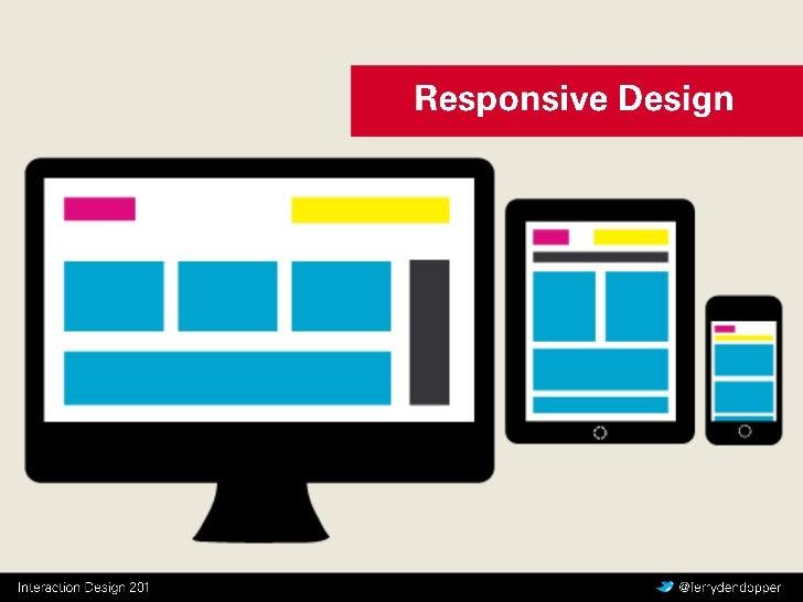 CMD Interaction Design - Y2 Q2 les 5 - Responsive Design