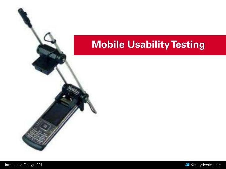 CMD Interaction Design - Y2 Q2 les 6 - Mobile Usability Testing