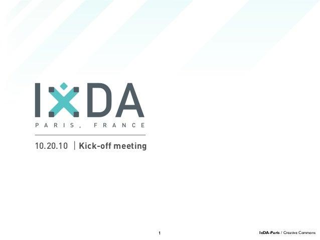 IxDA-Paris: Kick-off meeting