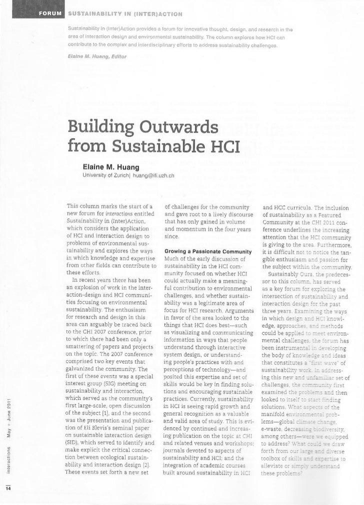 IxD and sustentability