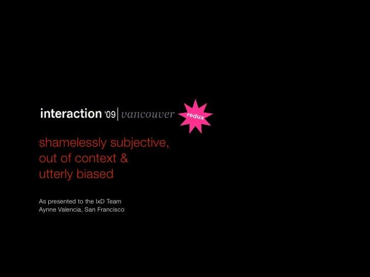 Interaction 09 Mashup/Recap