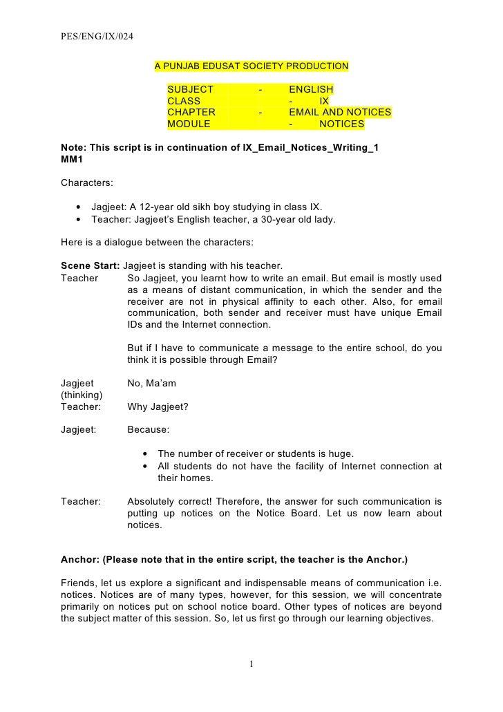PES/ENG/IX/024                        A PUNJAB EDUSAT SOCIETY PRODUCTION                          SUBJECT                -...