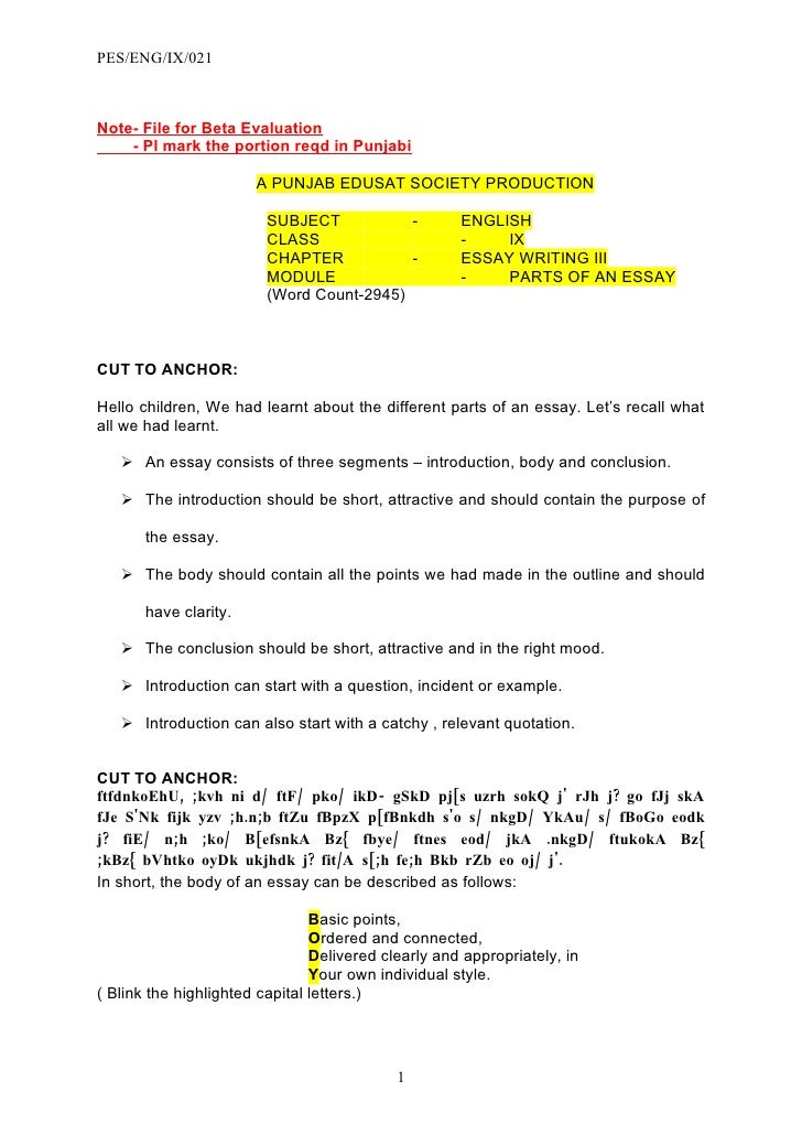 PES/ENG/IX/021    Note- File for Beta Evaluation     - Pl mark the portion reqd in Punjabi                         A PUNJA...