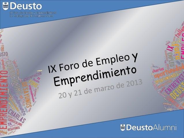 IX Foro de Empleo y Emprendimiento deusto