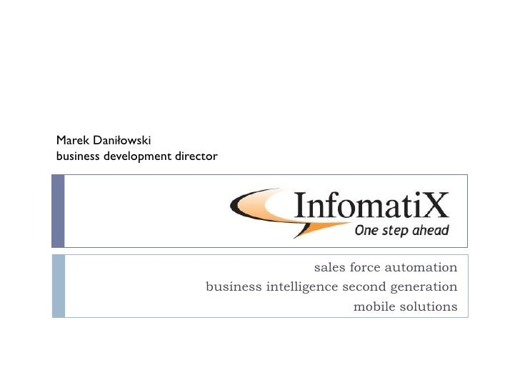 Saleseffectivity and business intelligence