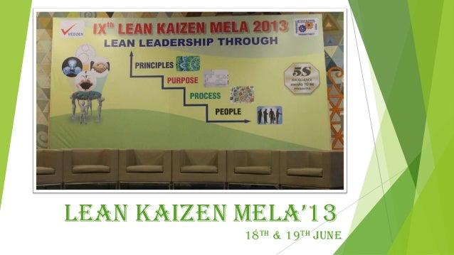 IXth Lean Kaizen Mela - 2013 Pictures