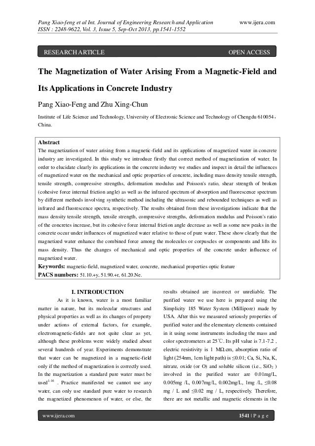 Pang Xiao-feng et al Int. Journal of Engineering Research and Application ISSN : 2248-9622, Vol. 3, Issue 5, Sep-Oct 2013,...