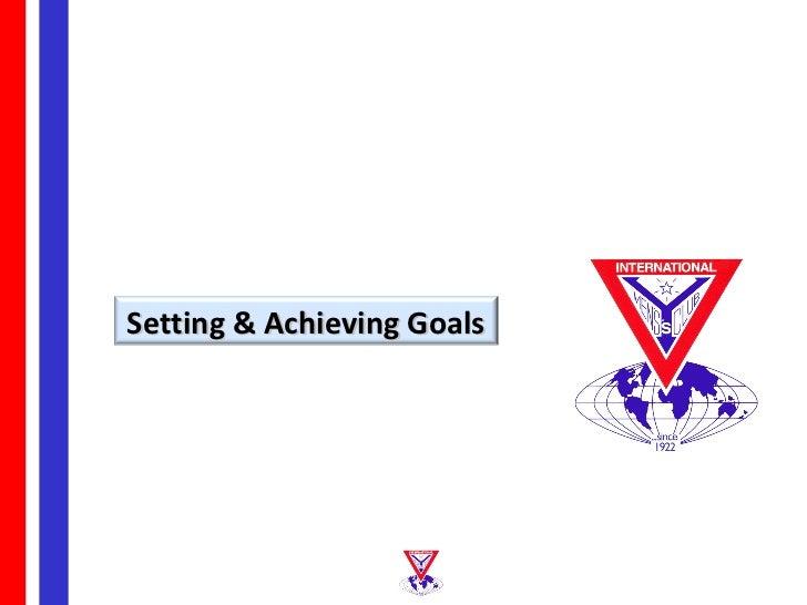 Setting & Achieving Goals