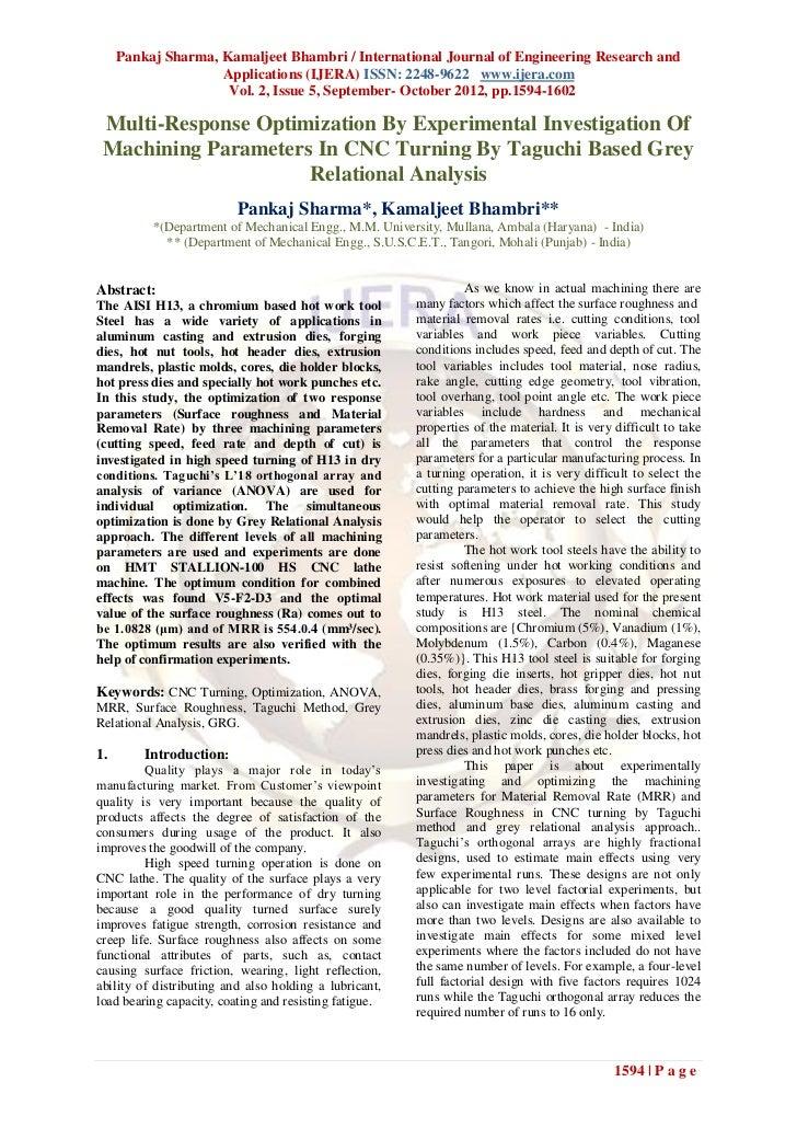 Pankaj Sharma, Kamaljeet Bhambri / International Journal of Engineering Research and                    Applications (IJER...