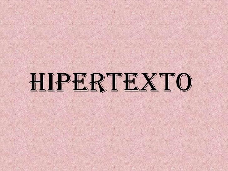 Hipertexto<br />