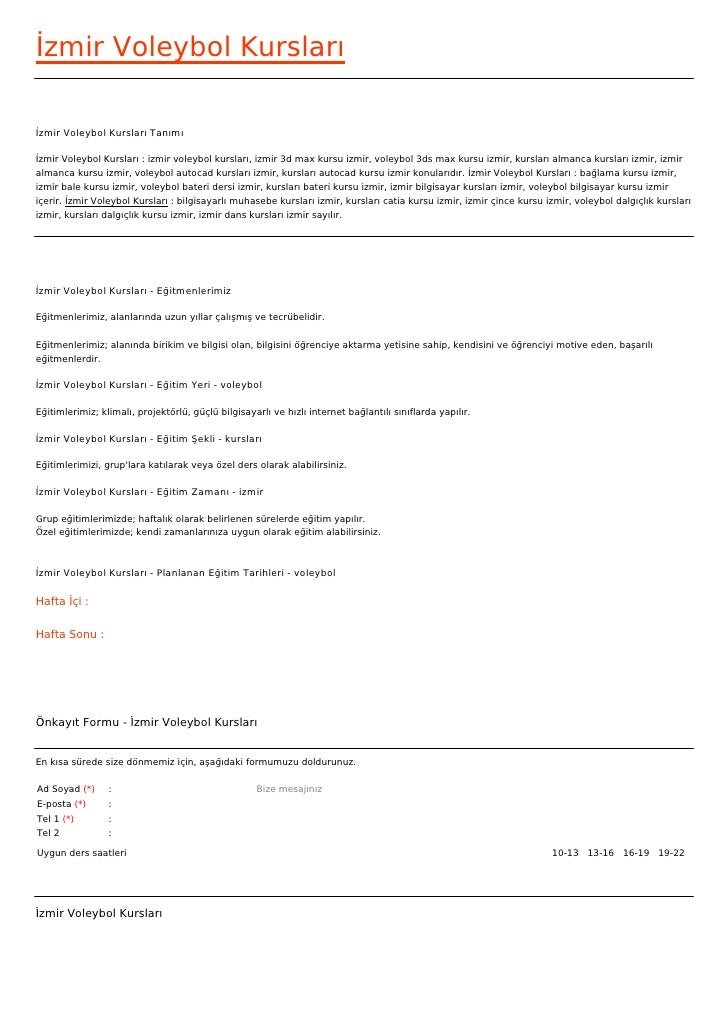 İzmir Voleybol Kurslarıİzmir Voleybol Kursları Tanımıİzmir Voleybol Kursları : izmir voleybol kursları, izmir 3d max kursu...