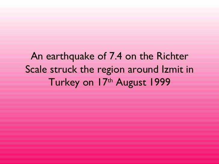 Izmit Earthquake Facts