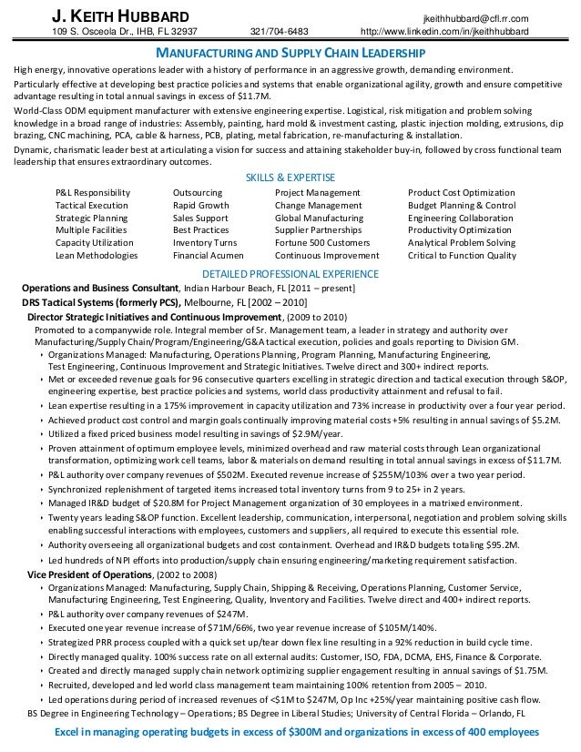 sample resume for logistics manager