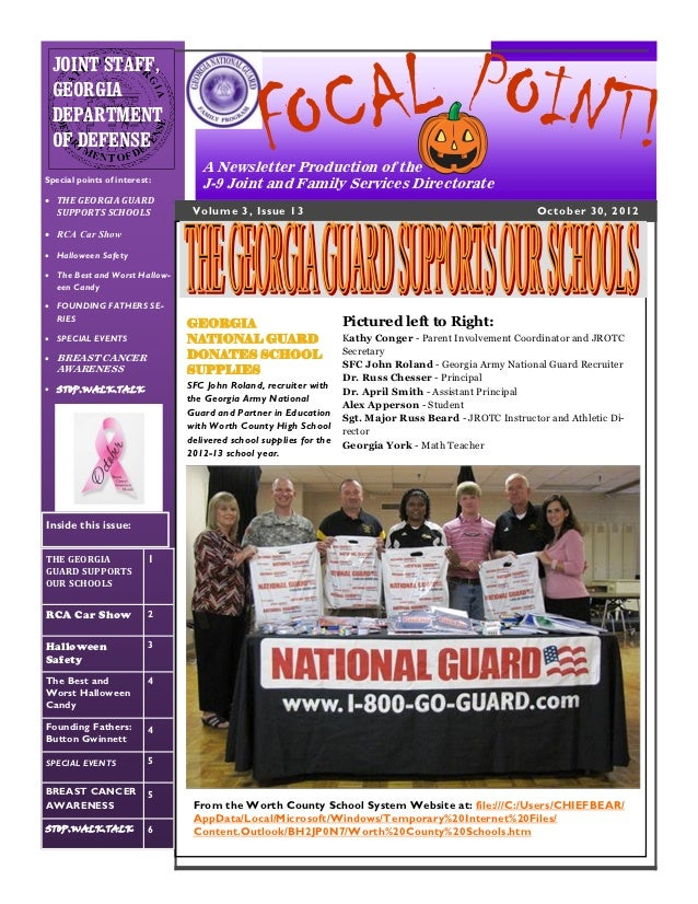 "The October 2012 Issue of the J-9 ""FOCAL POINT!"" NEWSLETTER"