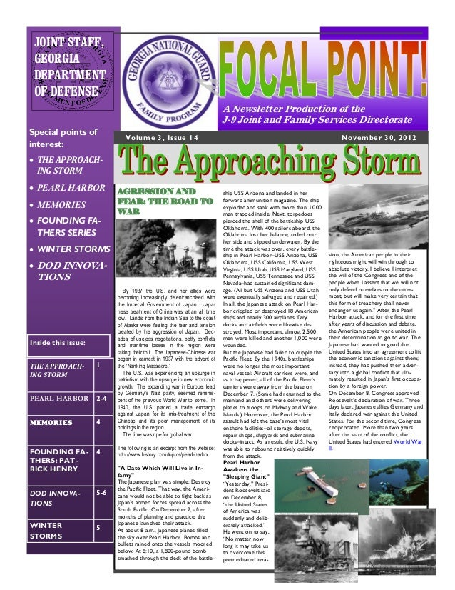"""The 14th issue of the J-9 """"FOCAL POINT!"""" Newsletter"""