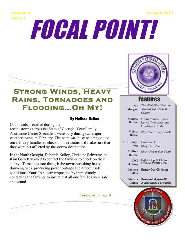 J-9 Focal Point! Newsletter April 2013