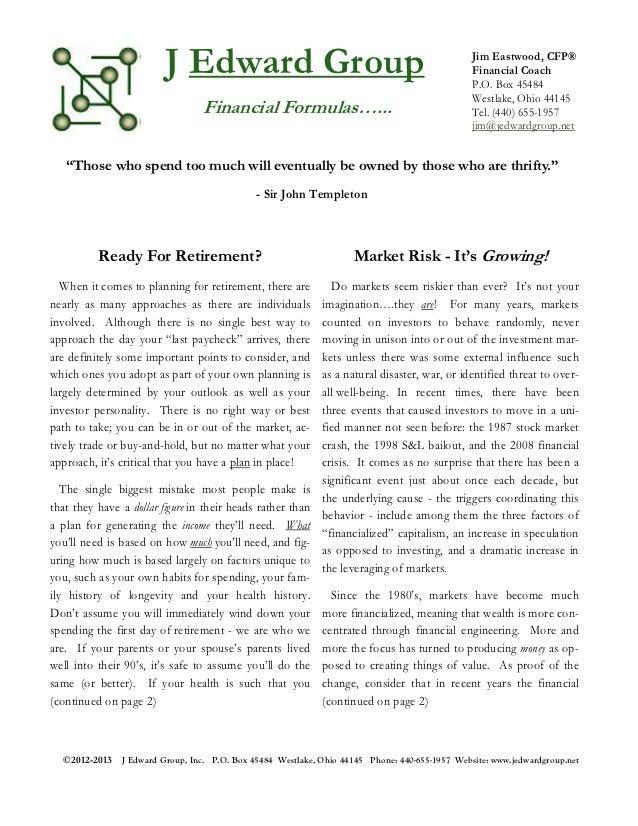J. Edward Group November Newsletter