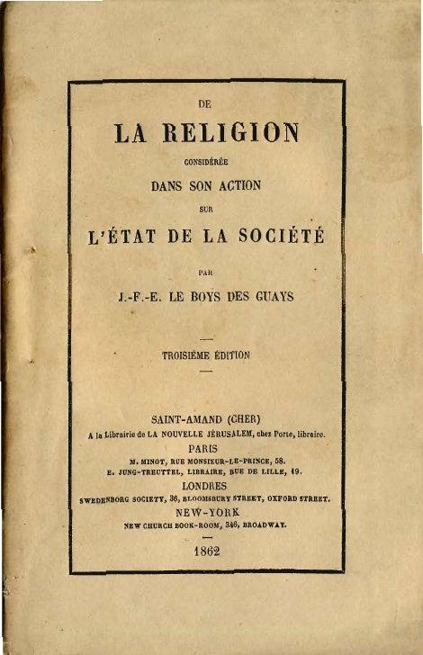 OE        LA RELIGION                          cONSIDtftÉE                 DANS SON ACTION                              SU...