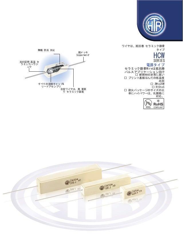 HTR India - 製品 - ワイヤ 巻きタイプ抵抗 - セラミック鉄骨抵抗 - HCW (日本の)