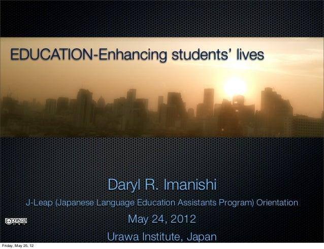 J leap orientation 2012 by daryl imanishi