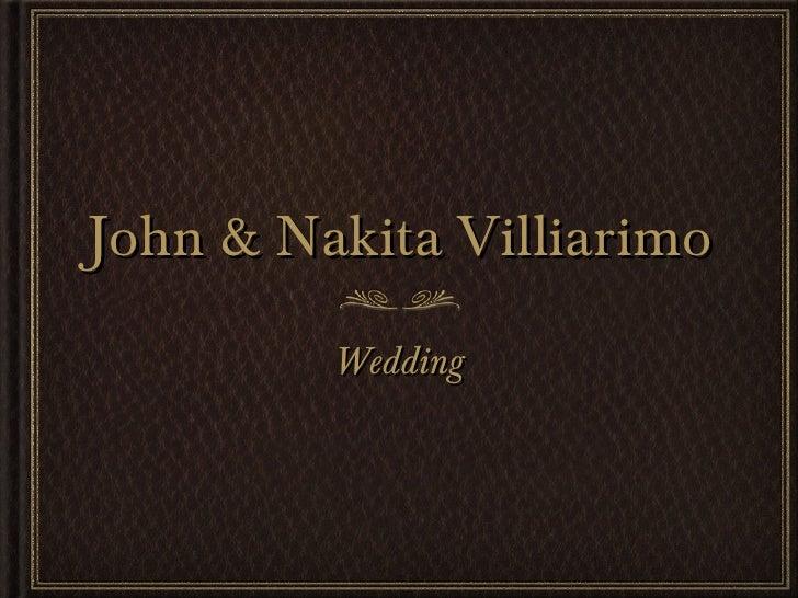 John and Nakita wedding