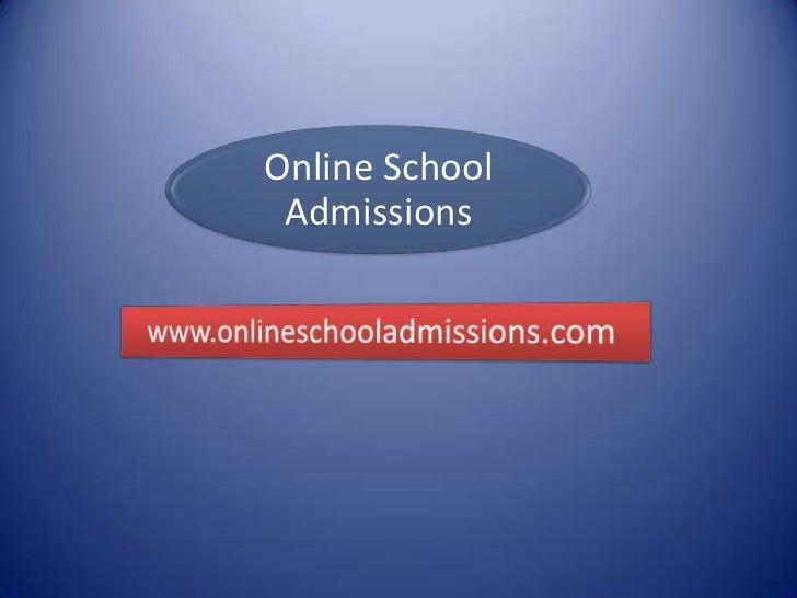 Online School Admissions
