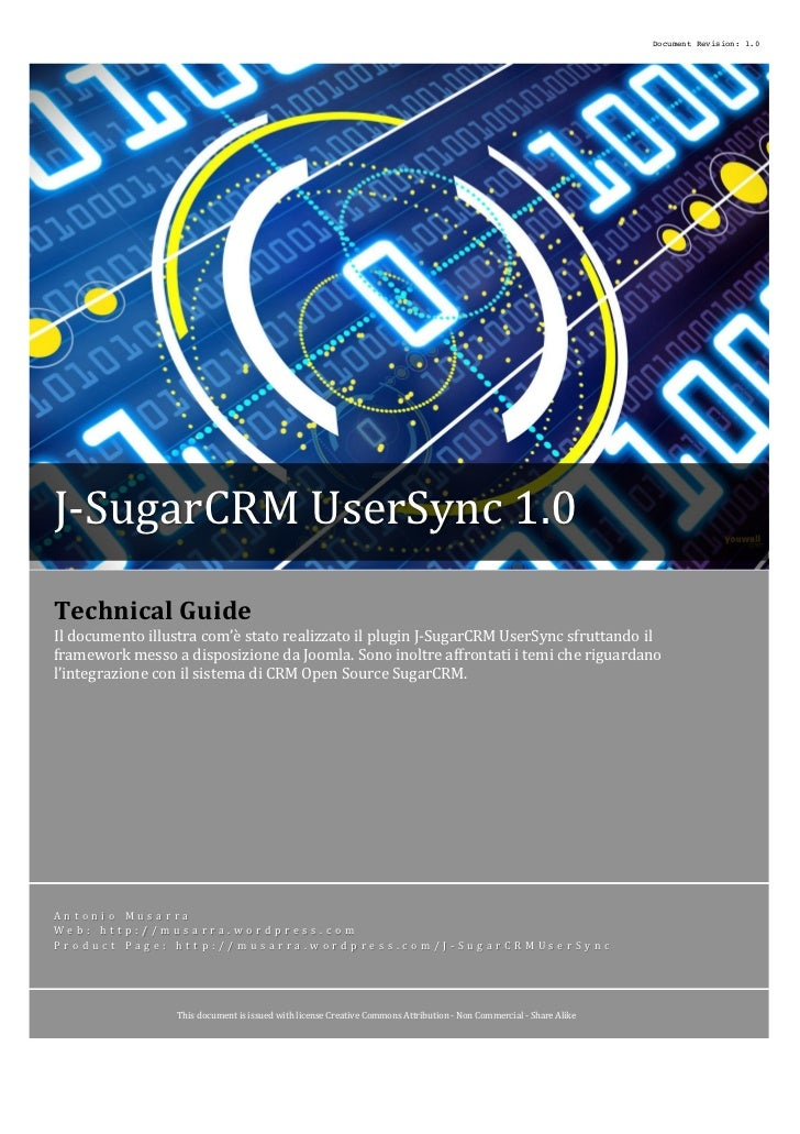 Document Revision: 1.0J-­‐SugarCRM	  UserSync	  1.0	                 	                 	                                  ...