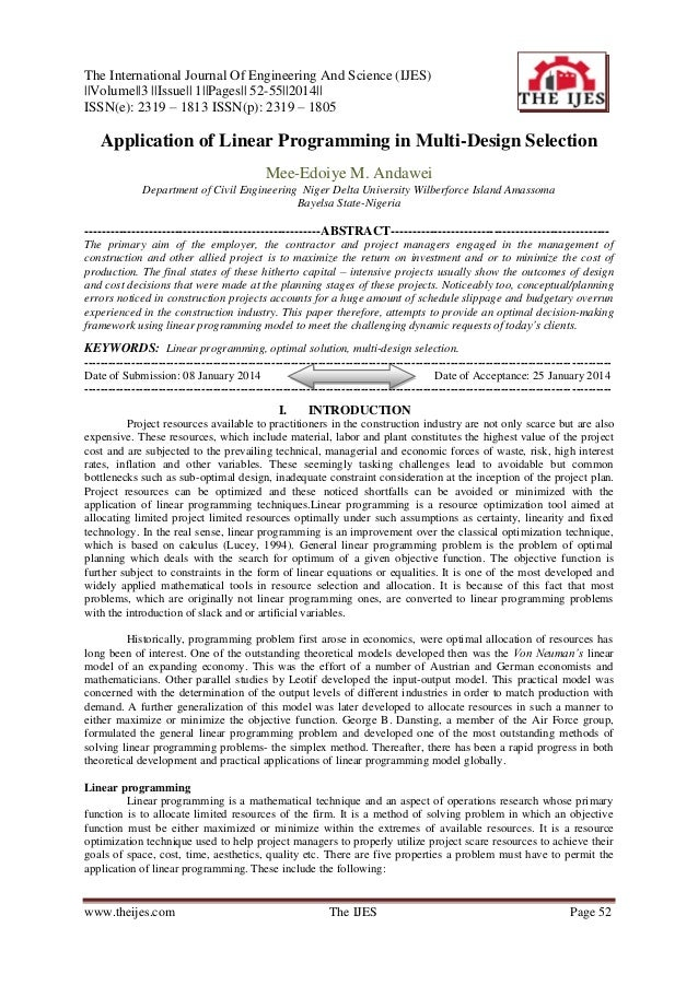 The International Journal Of Engineering And Science (IJES) ||Volume||3 ||Issue|| 1||Pages|| 52-55||2014|| ISSN(e): 2319 –...