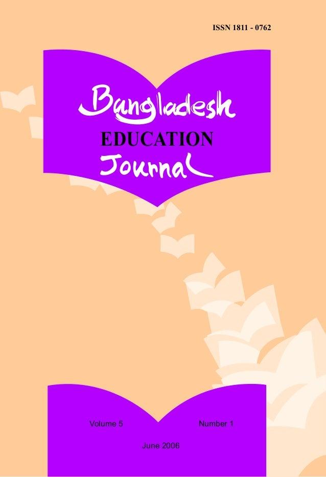 Impact of Education on Socio-Economic Development of Rural People of Bangladesh