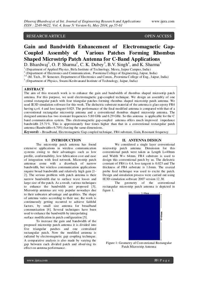 Dheeraj Bhardwaj et al Int. Journal of Engineering Research and Applications www.ijera.com ISSN : 2248-9622, Vol. 4, Issue...