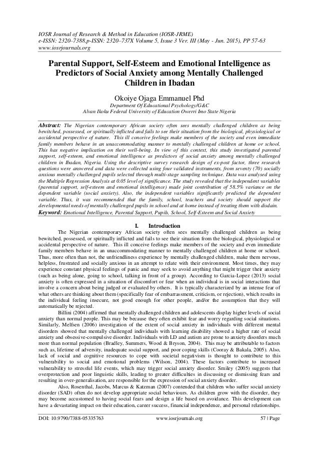 Phd thesis on self esteem