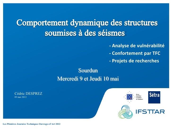 Comportements dynamique des structures soumises à des séismes