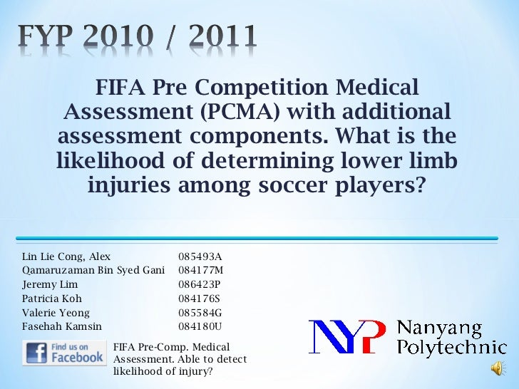 FIFA Pre Competition Medical Assessment (PCMA) with additional assessment components. What is the likelihood of determinin...