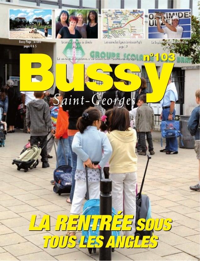 Bussy Plage : la rétro       Le service Jeunesse se dévoile   Les nouvelles lignes du réseau Pep's    Le Trophée Preven's ...