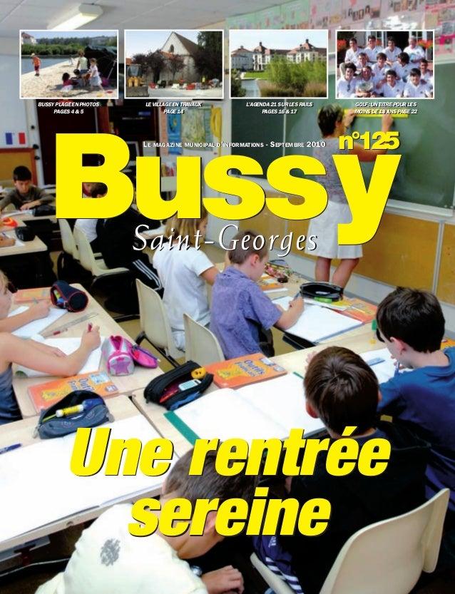 BUSSYMAG125_GABARIT BUSSYMAG NEW2009 15/09/10 09:41 Page1              Bussy          BUSSY PLAGE EN PHOTOS          BUSSY...