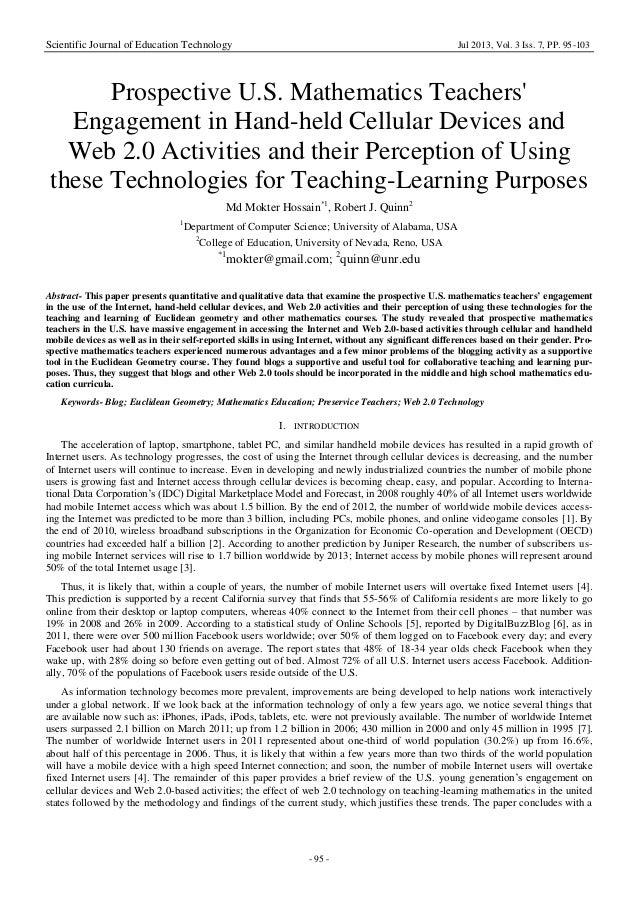 Scientific Journal of Education Technology Jul 2013, Vol. 3 Iss. 7, PP. 95-103 - 95 - Prospective U.S. Mathematics Teacher...
