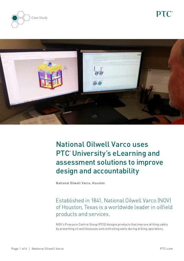 National Oilwell Varco Uses PTC University's eLearning and Assessment Solutions to Improve Design and Accountability