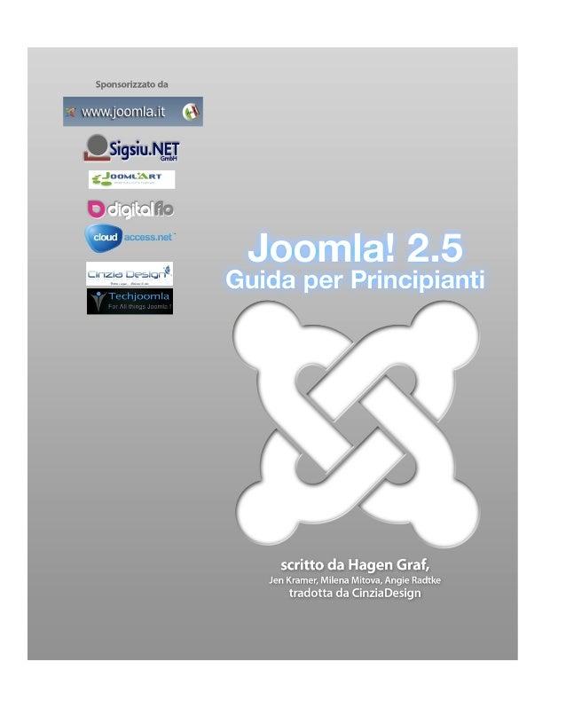 Guida Joomla! 2.5 per principianti - by Hagen Graaf - Traduzione Cinzia Design