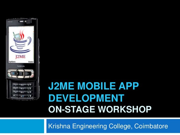 J2ME mobile app development