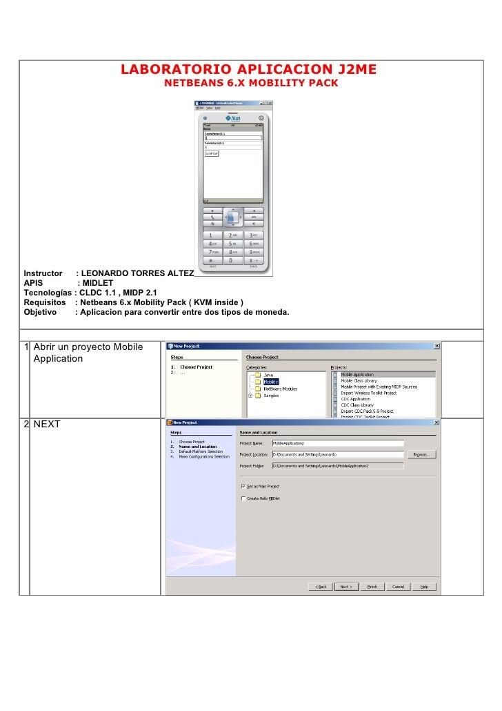 J2ME Netbeans Mobility Pack - Leonardo Torres Altez