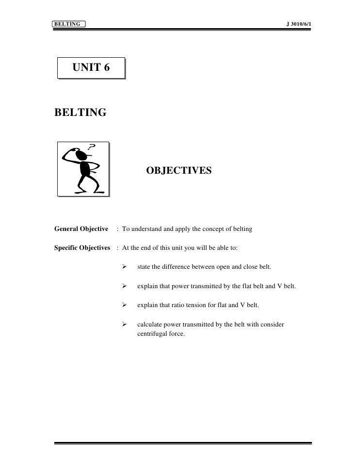 BELTING                                                                              J 3010/6/1           UNIT 6   BELTING...