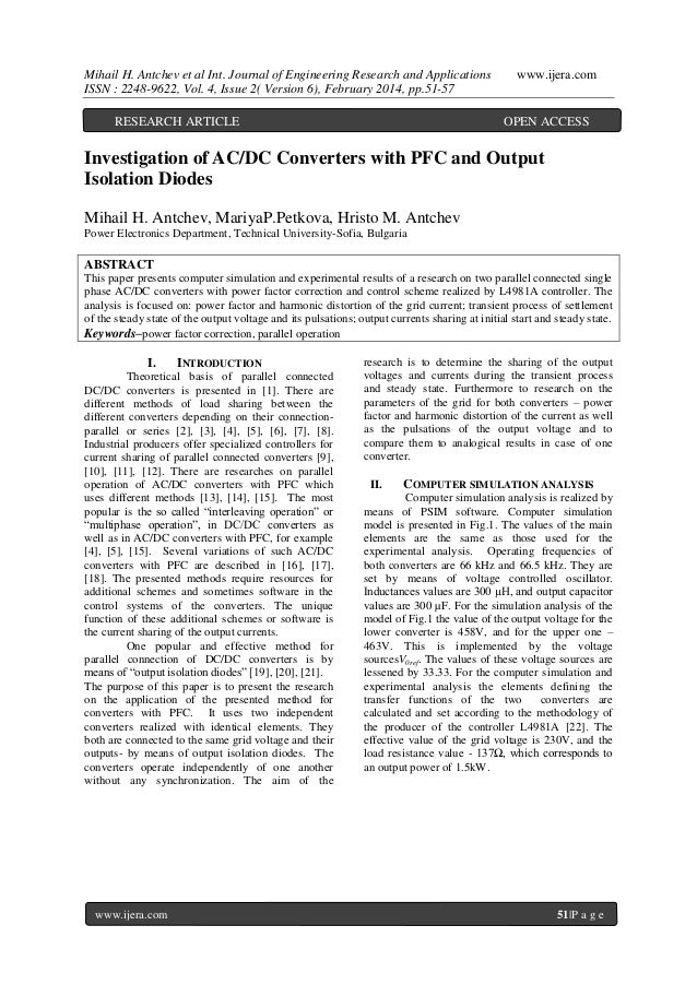 Mihail H. Antchev et al Int. Journal of Engineering Research and Applications ISSN : 2248-9622, Vol. 4, Issue 2( Version 6...
