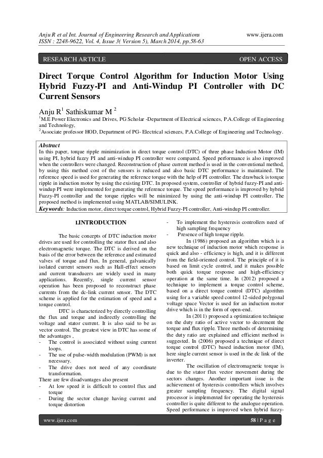 Anju R et al Int. Journal of Engineering Research and Applications www.ijera.com ISSN : 2248-9622, Vol. 4, Issue 3( Versio...