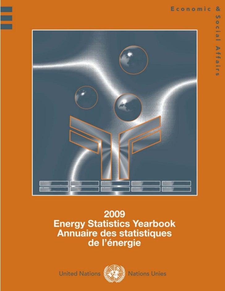 2009 Energy Statistics Yearbook