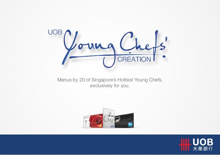 Menus by 20 of Singapore's Hottest Young Chefs,              exclusively for you.
