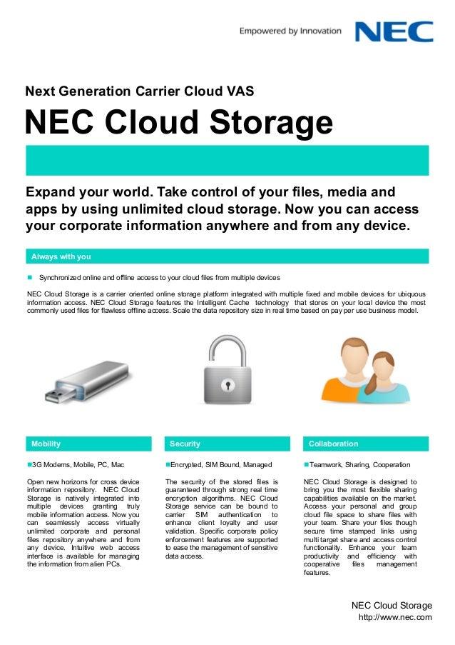 J75912 nec cloud brochure storage