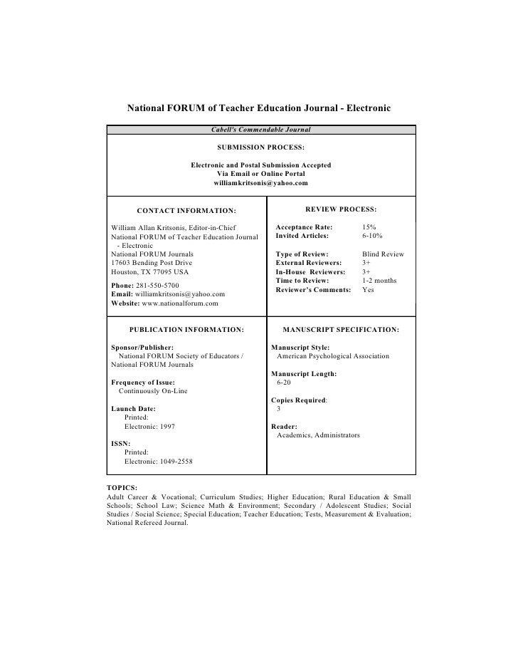 J81141 D6 Educational Curriculum & Methods