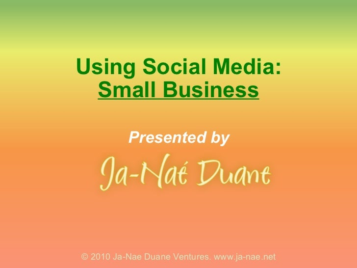 Social Media 101 for Small Business