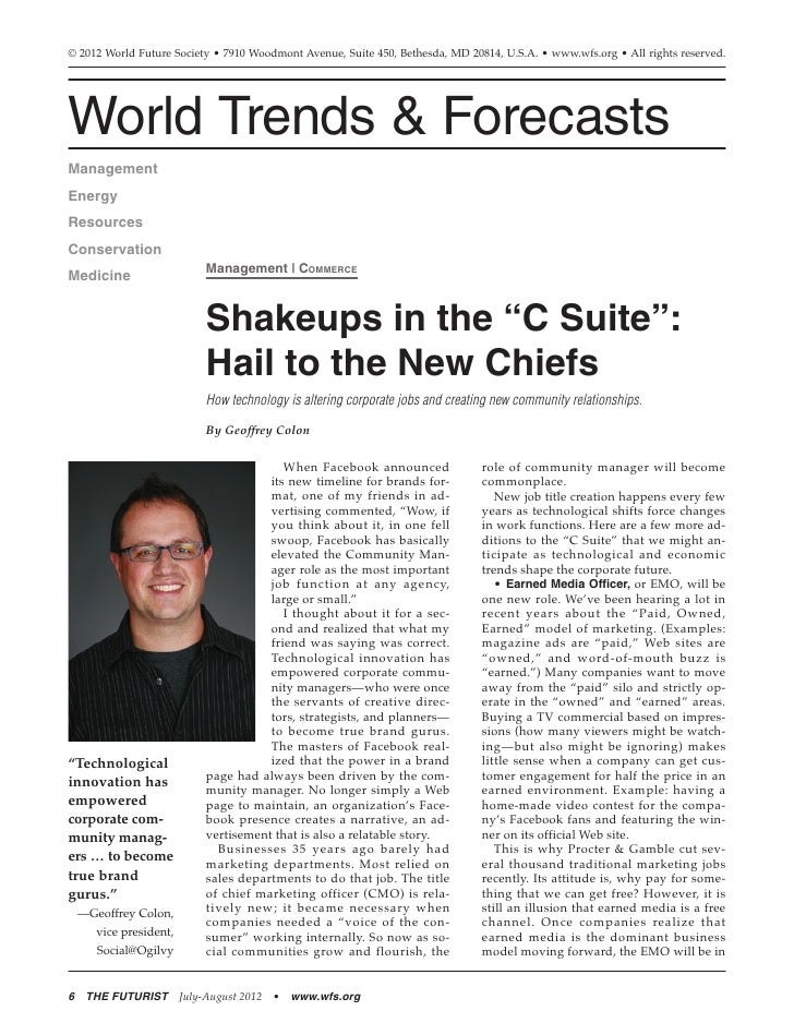 """Shakeups in the """"C Suite"""": Hail to the New Chiefs"""